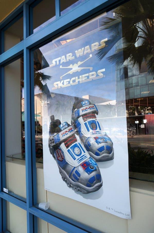 Schuhanzeige Skechers Star Wars Im Fenster Von Berühmtem