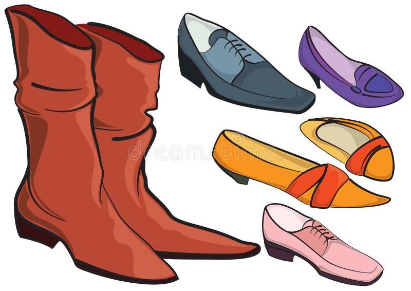 Schuhe stock abbildung