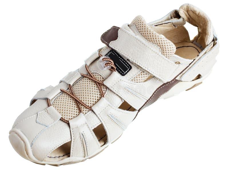 Schuhe der hellen Männer stockfoto