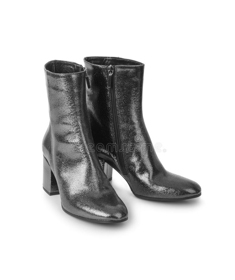 Schuhe der schwarzen Frau lizenzfreies stockbild