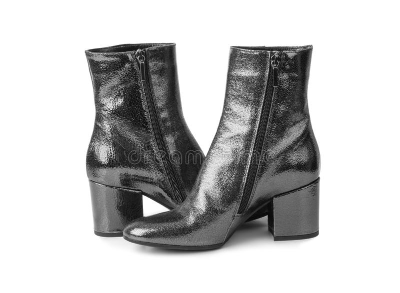 Schuhe der schwarzen Frau lizenzfreie stockfotografie