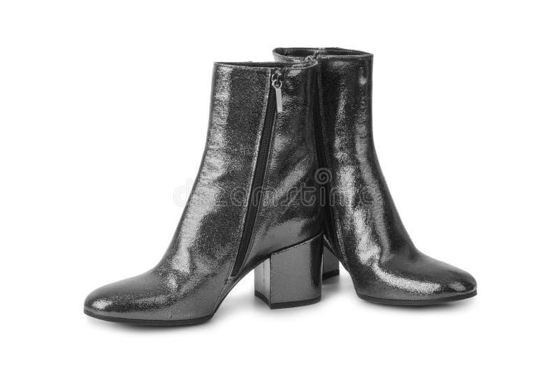 Schuhe der schwarzen Frau lizenzfreie stockfotos