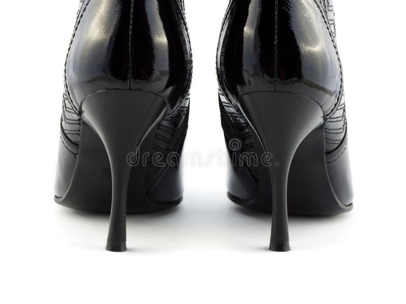 Schuhe der schwarzen Frauen lizenzfreie stockfotografie