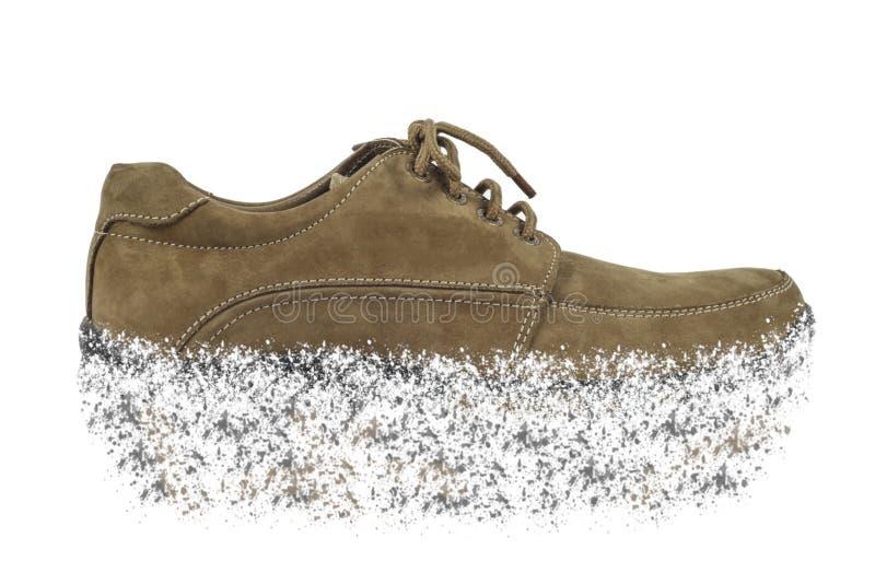 Schuhe, die anfangen aufzugliedern lizenzfreie stockbilder