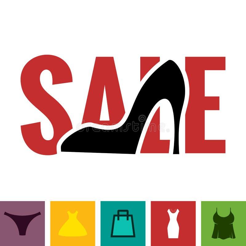 Schuhe-Verkaufs-Ikone vektor abbildung
