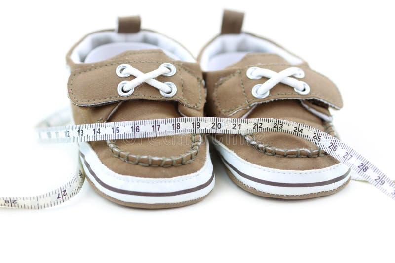 Schuhgrößenkonzept stockfotografie