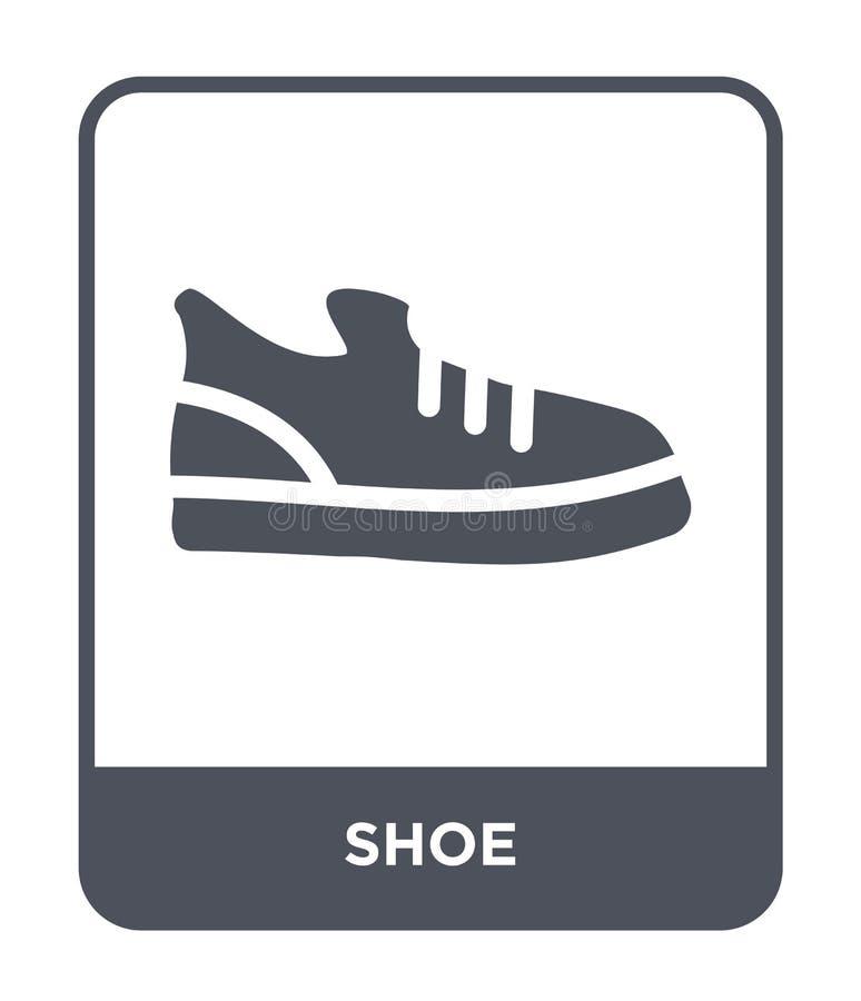 Schuhikone in der modischen Entwurfsart Schuhikone lokalisiert auf weißem Hintergrund einfaches und modernes flaches Symbol der S stock abbildung
