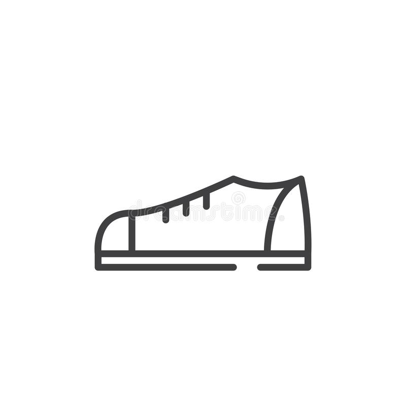 Schuhlinie Ikone stock abbildung