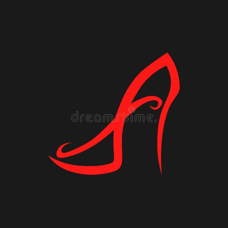 Schuhsymbol des hohen Absatzes, Ikone lizenzfreie abbildung