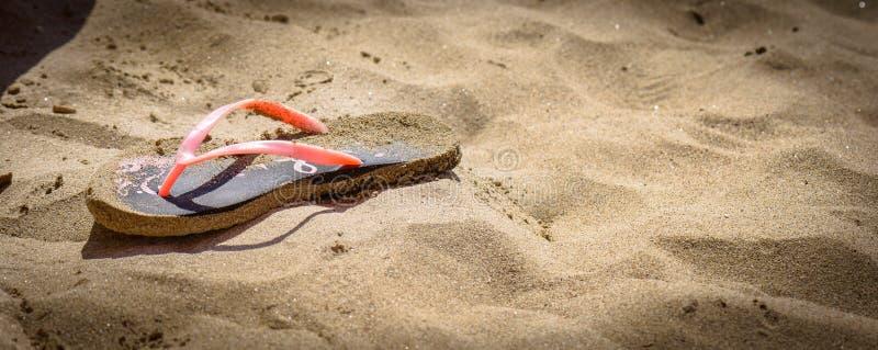 Schuif op het zand royalty-vrije stock afbeelding