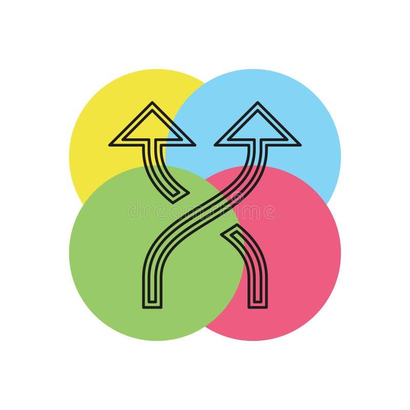 Schuifelend pictogram, veranderingsorde, willekeurig teken stock illustratie