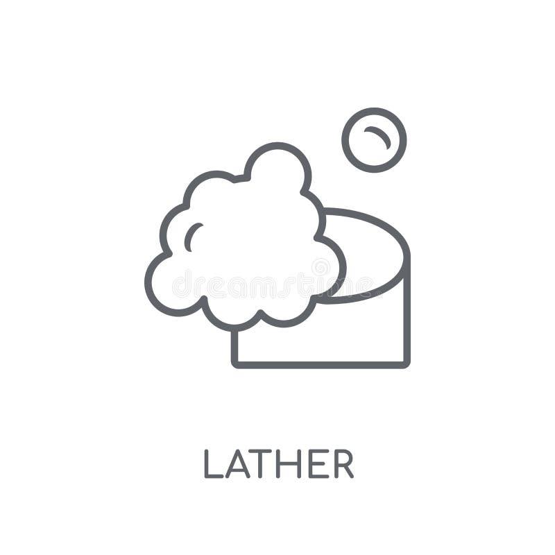 schuim lineair pictogram Modern het embleemconcept van het overzichtsschuim op wit vector illustratie