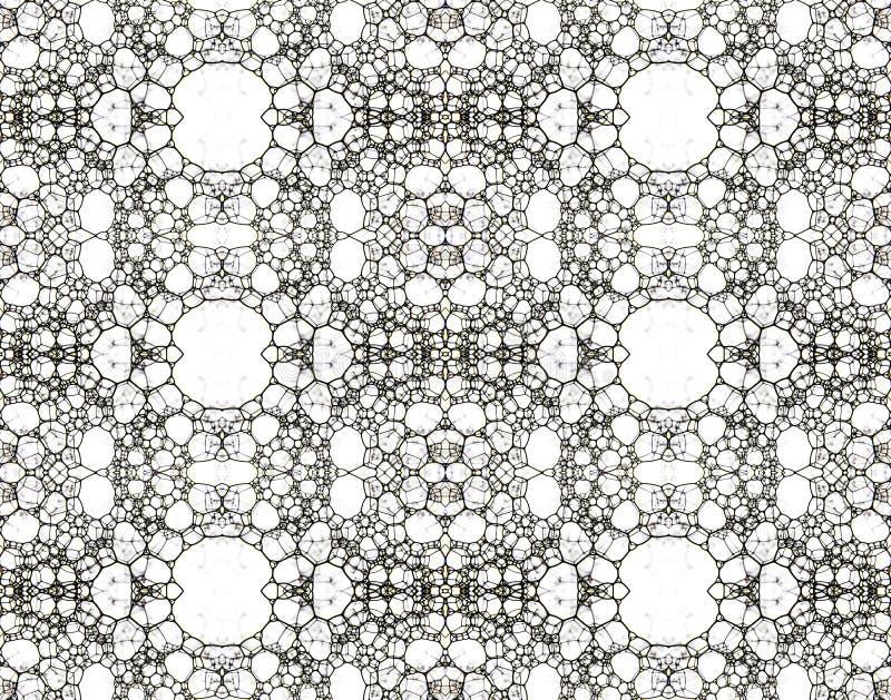 Schuim op een witte achtergrond die met inkt, collage wordt geverft vector illustratie