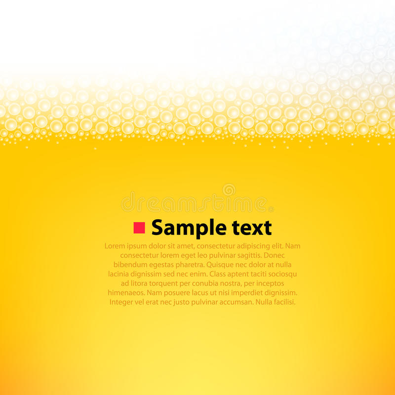 Schuimende bier heldere achtergrond stock illustratie