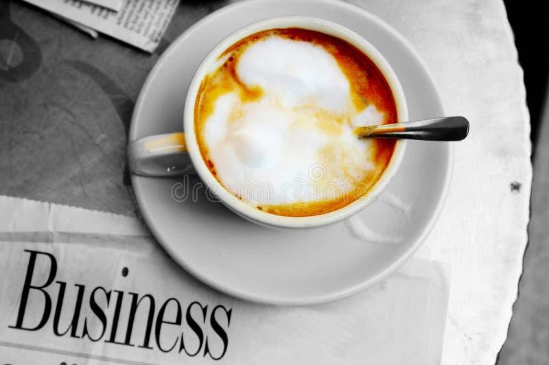 Schuimende koffie royalty-vrije stock foto