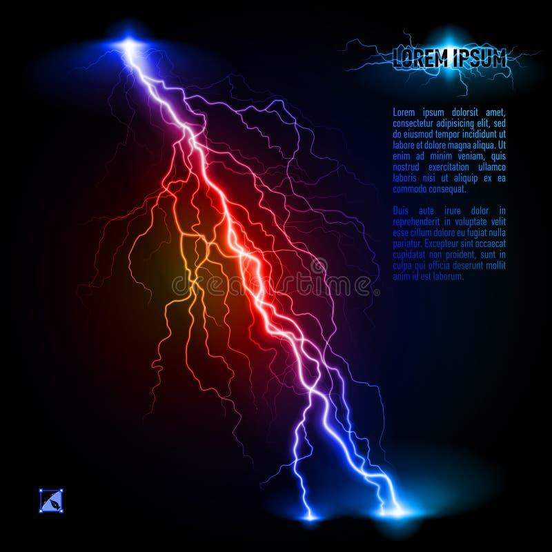 Schuine bliksemlijn stock illustratie
