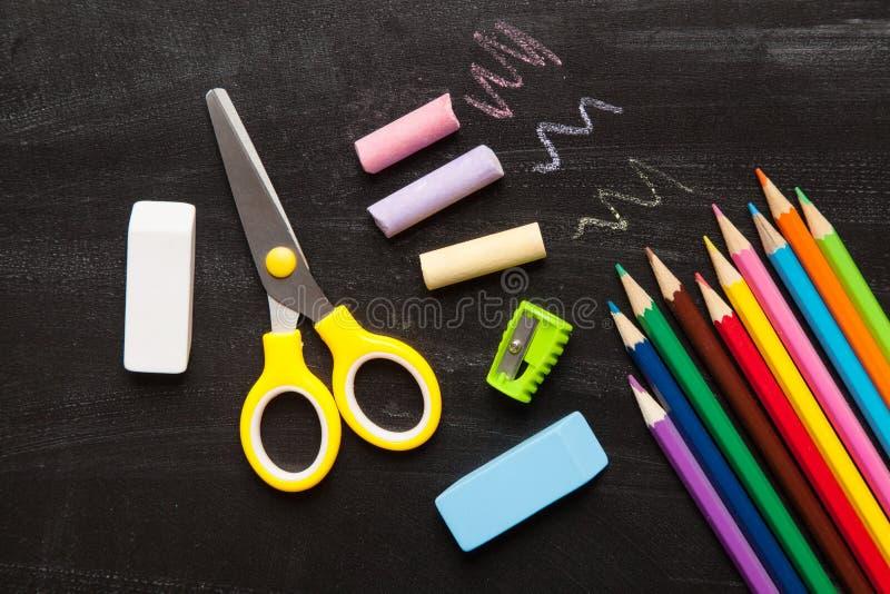 Schul- und Bürozusätze stockfoto