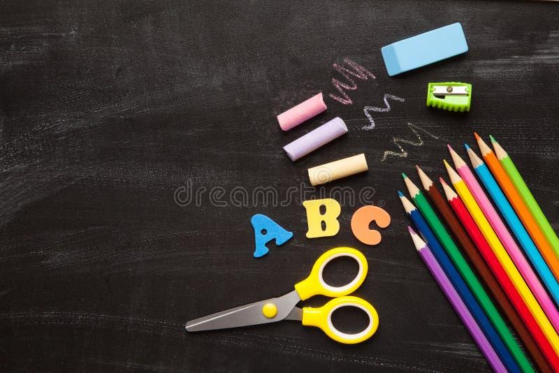Schul- und Bürozusätze lizenzfreie stockbilder