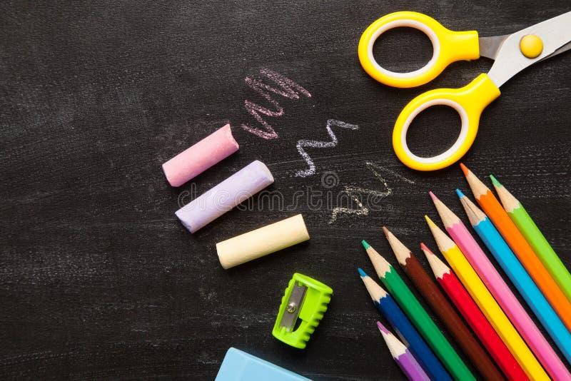 Schul- und Bürozusätze lizenzfreies stockbild
