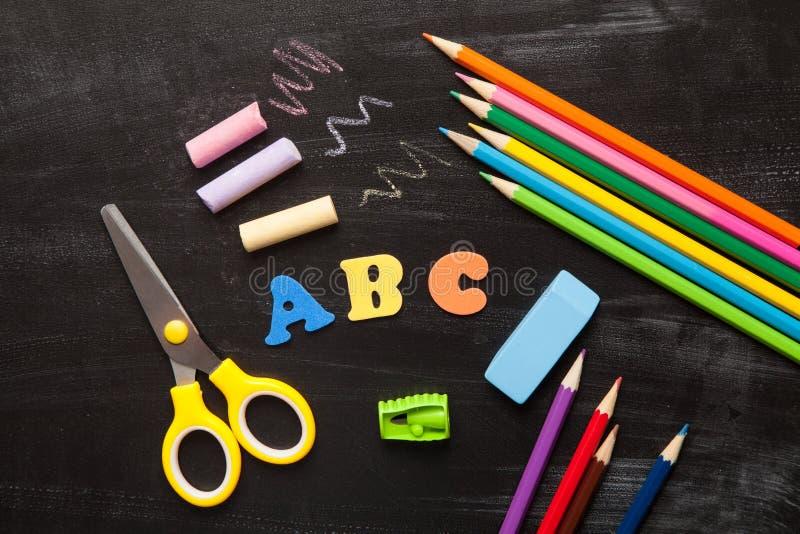 Schul- und Bürozusätze lizenzfreies stockfoto