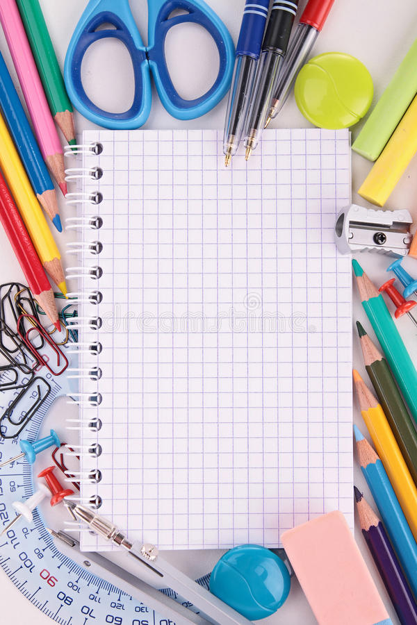 Schulbedarf lizenzfreies stockfoto