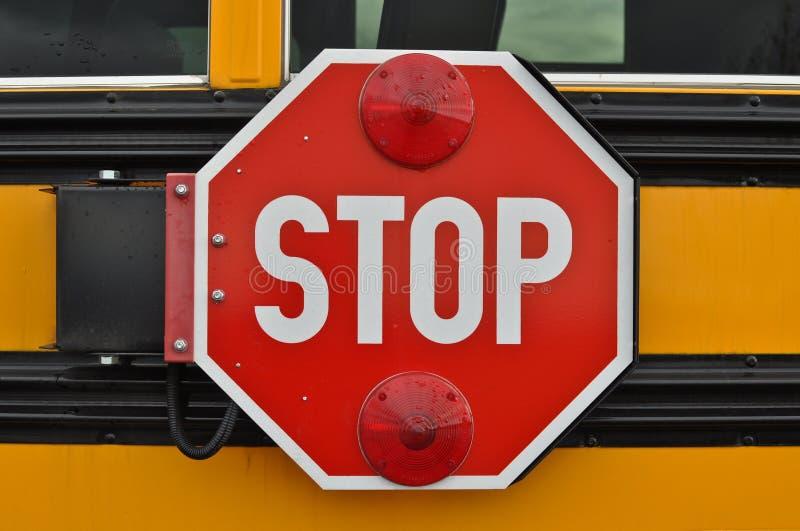 Schulbus-Endzeichen stockbild