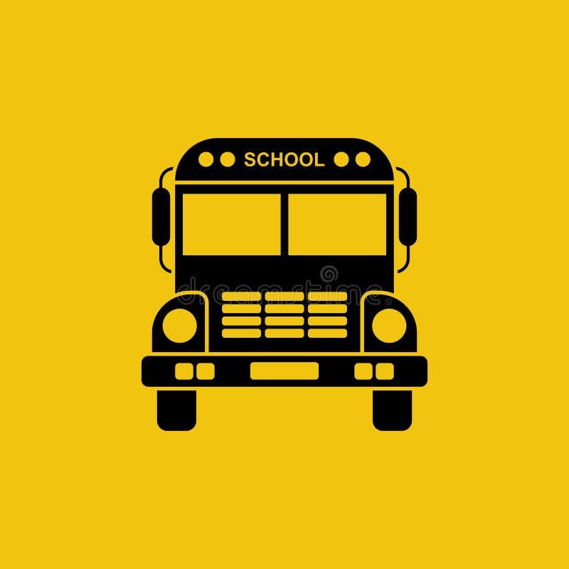 Schulbusikone stock abbildung