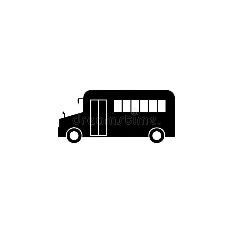 Schulbusikone Element der Autoart Ikone Erstklassige Qualitätsgrafikdesignikone Zeichen und Symbolsammlungsikone für Website, wir lizenzfreie abbildung