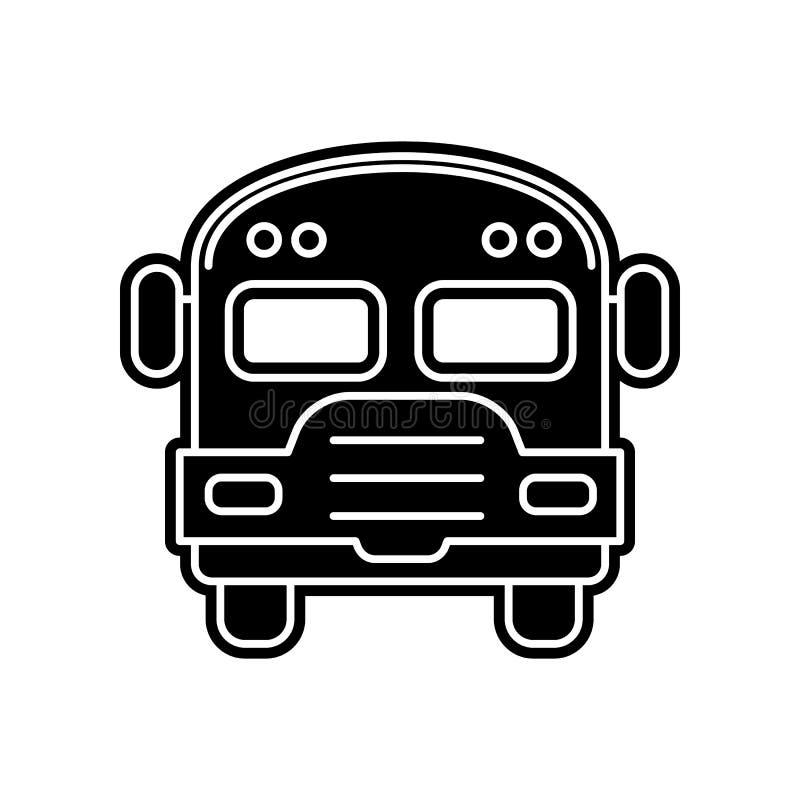 Schulbusikone Element der Bildung f?r bewegliches Konzept und Netz apps Ikone Glyph, flache Ikone f?r Websiteentwurf und Entwickl vektor abbildung