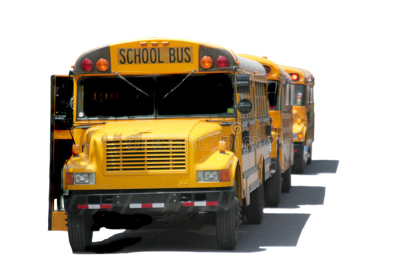 Schulbusse stockfotos