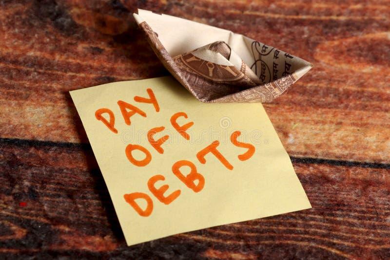 Schulden stock foto's