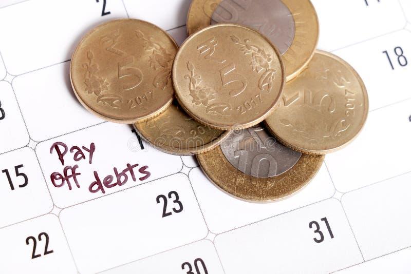 Schulden royalty-vrije stock afbeeldingen