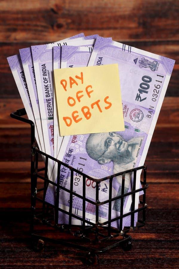 Schulden stock afbeeldingen