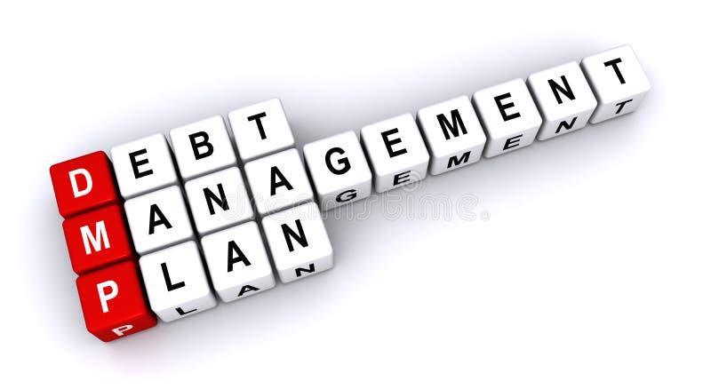 Schuldenbeheerplan stock illustratie