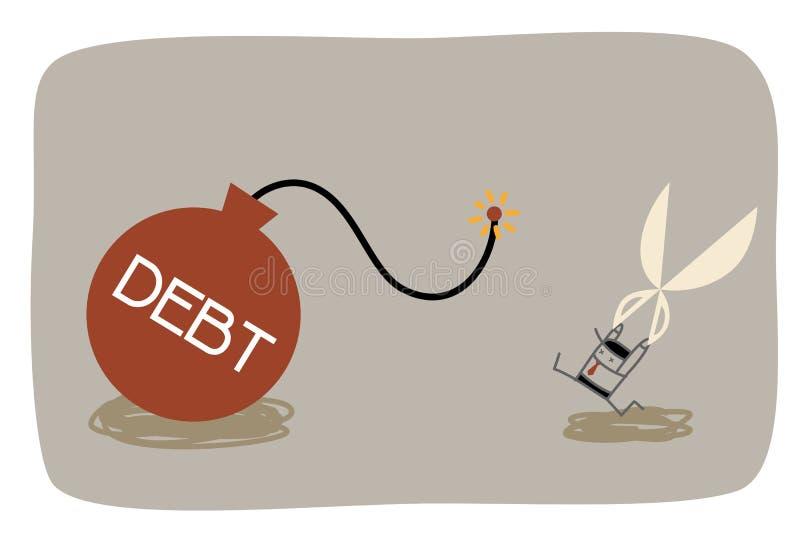 Schuldendienst vektor abbildung