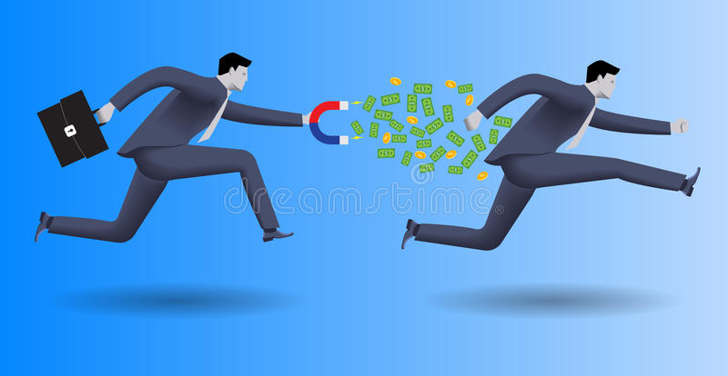 Schuldeneintreibergeschäftskonzept vektor abbildung