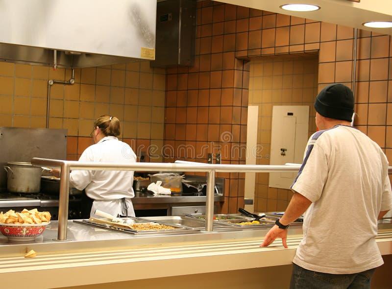 Schule-Cafeteria lizenzfreie stockfotos