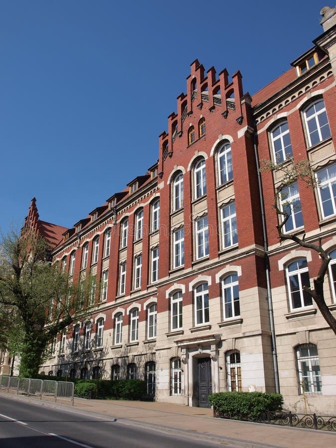 Schule der Volkswirtschaft, Lublin, Polen stockfotos