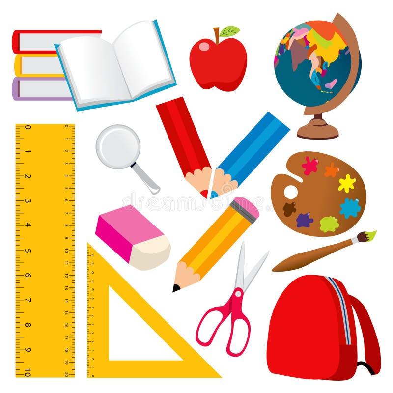 Schule-Elemente stock abbildung
