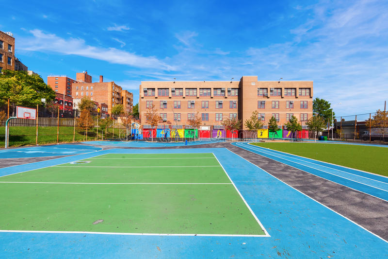Schule im Bronx, New York City lizenzfreies stockbild