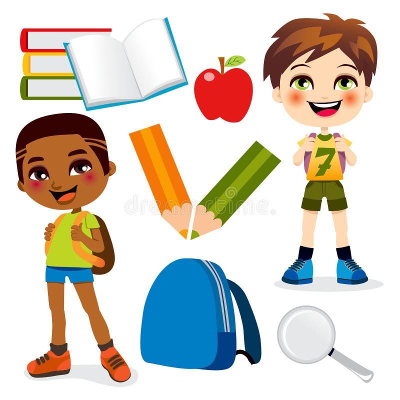 Schule-Jungen lizenzfreie abbildung