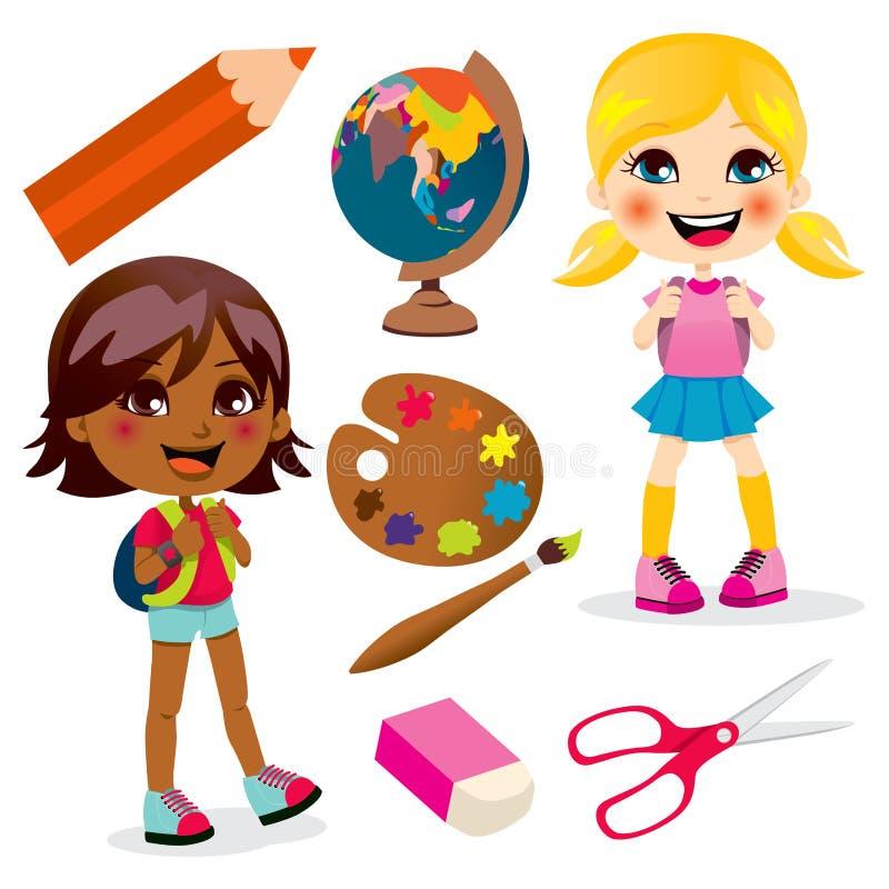 Schule-Mädchen vektor abbildung