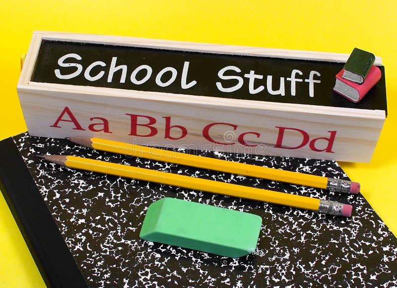 Download Schule-Material stockbild. Bild von radiergummi, vortraining - 28425