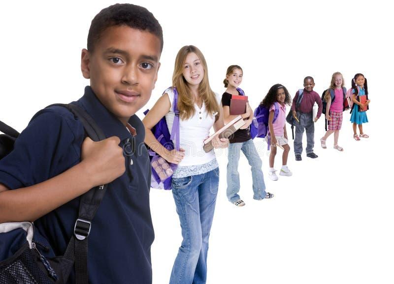 Schule scherzt Verschiedenartigkeit stockfoto