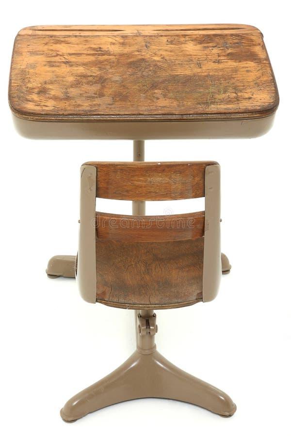 Schule-Schreibtisch nach lizenzfreies stockfoto