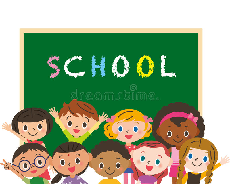 Schule und Kinder vektor abbildung