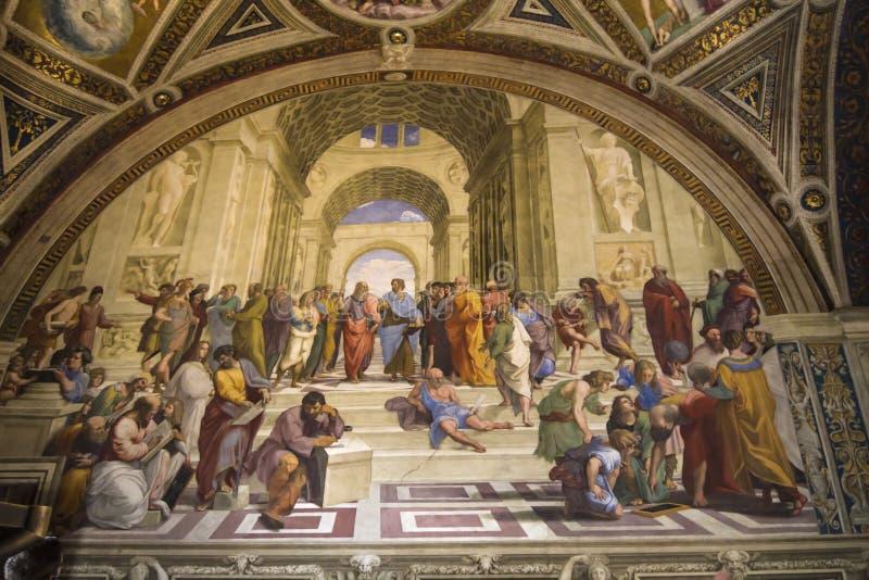 Schule von Athen-Vatikanstadt lizenzfreie stockfotografie