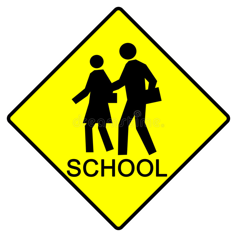 Schule-Zeichen stock abbildung