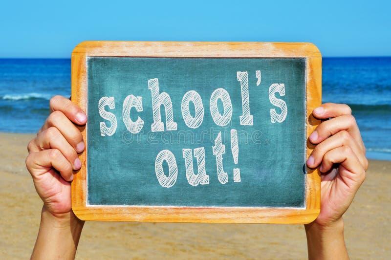 Schulen heraus lizenzfreies stockfoto