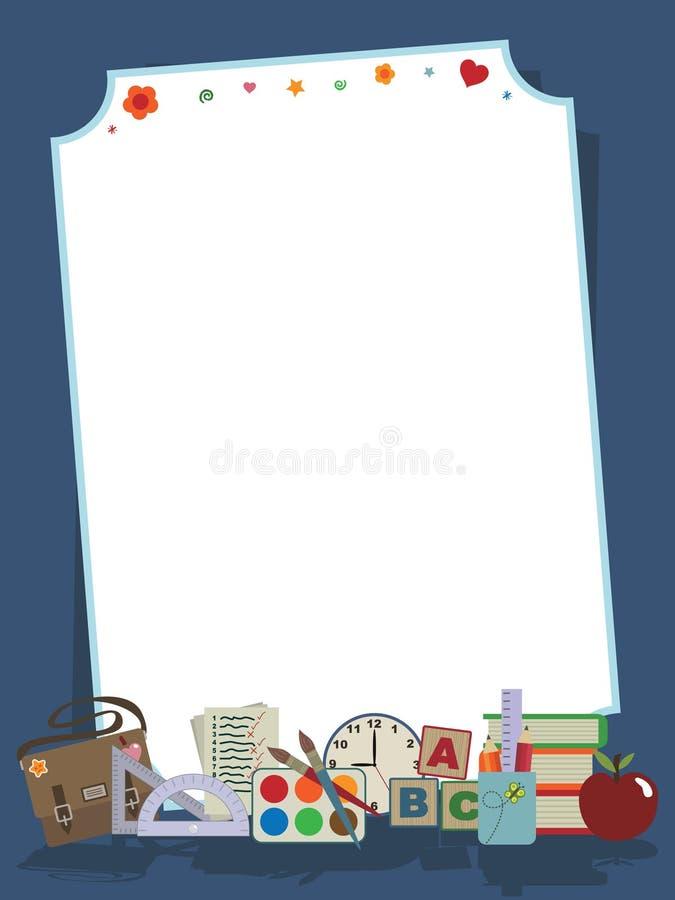 Schulen Sie Briefpapier vektor abbildung